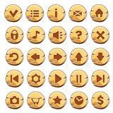 Set Of Gold Round Buttons Royalty Free Stock Photography