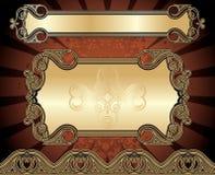 Set Of Golden Frames Royalty Free Stock Image