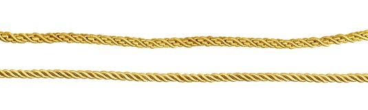 Set Of Golden Silk Ropes Stock Image