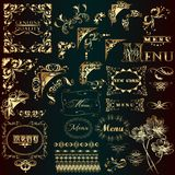 Set Of Golden Vector Flourishes For Design Royalty Free Stock Photography