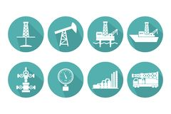 Free Set Of Graphic Flat Vector Oil And Gas Icons For Petroleum Indus Stock Photography - 125410822