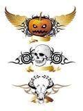 Set Of Halloween Elements. Tattoo Design Stock Photos