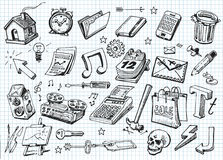 Free Set Of Hand Drawn Icons Royalty Free Stock Photo - 28706795
