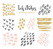 Set Of Hand-drawnstylish Hipster Strokes. Stock Photos