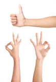 Set Of Hand Gesture Stock Photography