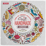 Set Of Handmade Cartoon Doodle Objects, Symbols And Items Royalty Free Stock Image