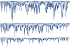 Free Set Of Hanging Thawing Icicles Of A Blue Shade Royalty Free Stock Photography - 51554247