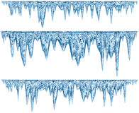 Free Set Of Hanging Thawing Icicles Of A Blue Shade Stock Photography - 54944082