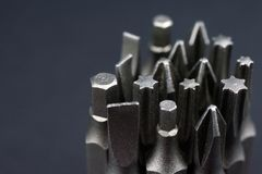 Free Set Of Heads For Screwdriver Bits Royalty Free Stock Photography - 108541417