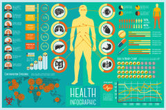Set Of Health Care Infographic Elements With Icons Royalty Free Stock Image