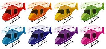 Free Set Of Helicopters In Different Colors Royalty Free Stock Photography - 169129287