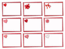 Set Of Holiday Cards. St. Valentines Day Royalty Free Stock Image