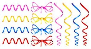 Set Of Holiday Ribbon Royalty Free Stock Photography