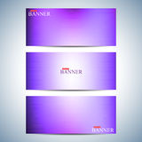 Set Of Horizontal Multicolored Backgrounds For Your Design. Modern Business Template . Vector Illustration Royalty Free Stock Photo