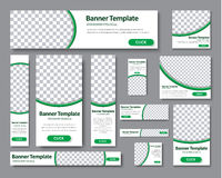Set Of Horizontal, Vertical And Square Web Banners In Standard S