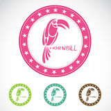Set Of Hornbill Label Stock Photography