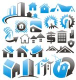 Set Of House Icons, Symbols And Signs. Stock Images