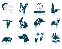 Set Of Hunting Icons Stock Photography