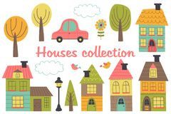 Free Set Of Isolated Houses And Other Elements Part 1 Royalty Free Stock Photography - 113116457