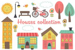 Free Set Of Isolated Houses And Other Elements Part 2 Royalty Free Stock Photos - 113117898