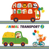 Set Of Isolated Transports With Animals Part 2 Stock Image