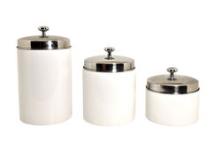 Set Of Kitchen Canisters Isolated Royalty Free Stock Image