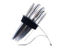 Set Of Kitchen Knifes Isolated On White Royalty Free Stock Image
