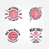 Set Of Knitting Badges Stock Photography