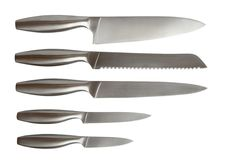 Set Of Knives Stock Photos