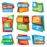Set Of Labels And Banners Royalty Free Stock Images