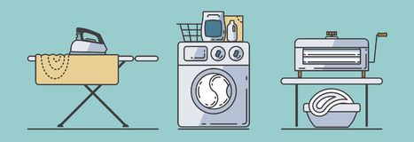 Free Set Of Laundry Accessories Royalty Free Stock Photo - 102413685