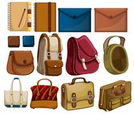 Set Of Leather Object Royalty Free Stock Image