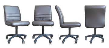 Free Set Of Leather Office Chair On White Background Royalty Free Stock Photos - 113785758