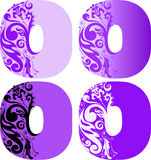 Set Of Letters O Royalty Free Stock Photography