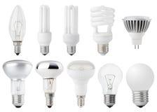 Set Of Light Bulbs Stock Photography
