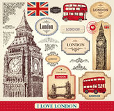 Set Of London Symbols Royalty Free Stock Photography