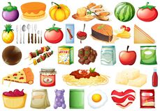 Set Of Many Food Stock Images