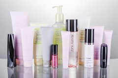 Free Set Of Mary Kay Cosmetics Isolated On Gradient Background. Royalty Free Stock Photography - 162536587