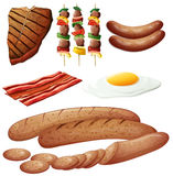 Set Of Meat Products Royalty Free Stock Photos