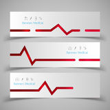 Set Of Medical Banners Illustration. Royalty Free Stock Photography
