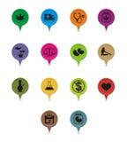 Set Of Medicinal Marijuana Pointer Royalty Free Stock Image
