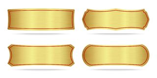 Set Of Metallic Gold Name Plate Royalty Free Stock Images