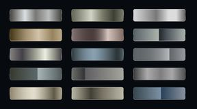 Free Set Of Metallic Gradients Of Silver Bronze And Gold Foil Texture Stock Photo - 159084890