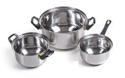 Set Of Metallic Pan Stock Images