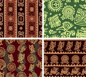 Set Of Mexican Seamless Tiles Stock Image