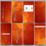 Set Of Modern Flyers. Chinese New Year Background Stock Image