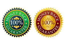 Free Set Of Money Back Stickers Stock Photography - 8634242