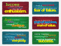 Free Set Of Motivational Quotes. Royalty Free Stock Images - 37997319