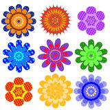 Set Of Motley Geometrical Colors Stock Photo
