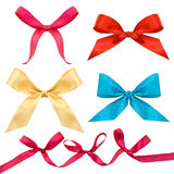 Set Of Multi-colored Bows Royalty Free Stock Photo